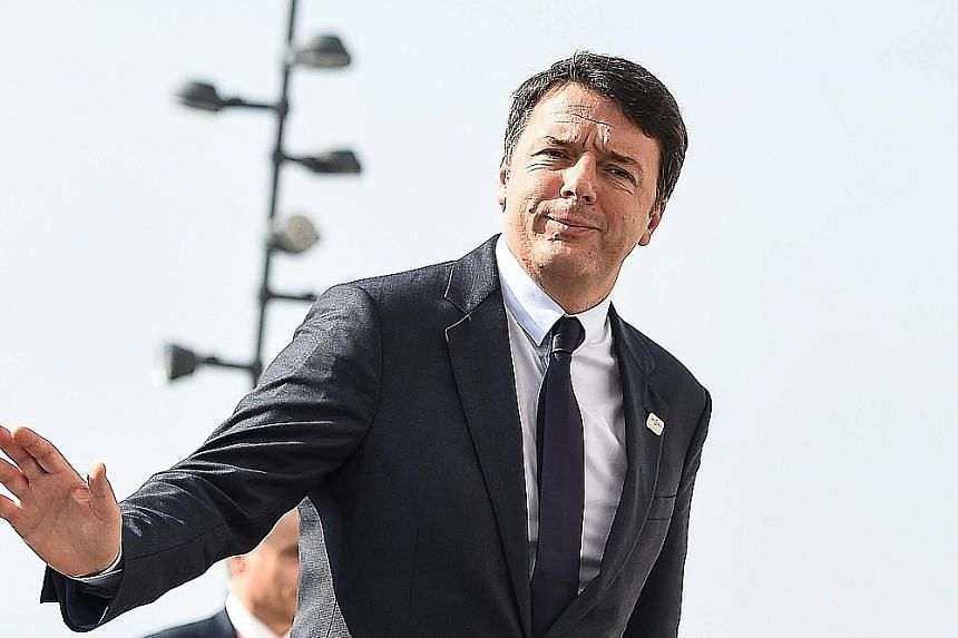 """Mr Renzi was in Bratislava last Friday for a summit to discuss the EU's future in the wake of the Brexit vote. He later said he was """"not satisfied"""" with the conclusions of the summit and that little had been achieved."""