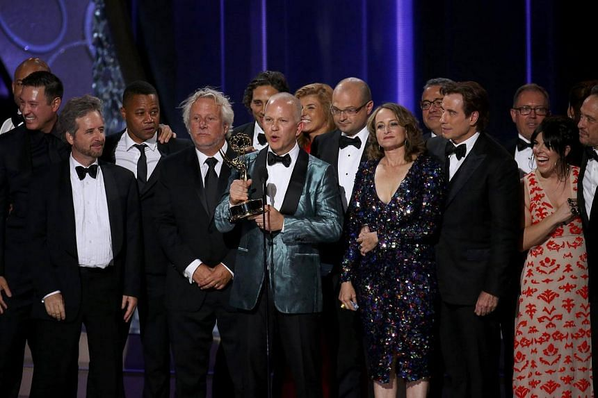 Ryan Murphy accepting the award for Outstanding Limited Series for The People v. O.J. Simpson: American Crime Story at the 68th Primetime Emmy Awards in Los Angeles, on Sept 18, 2016.