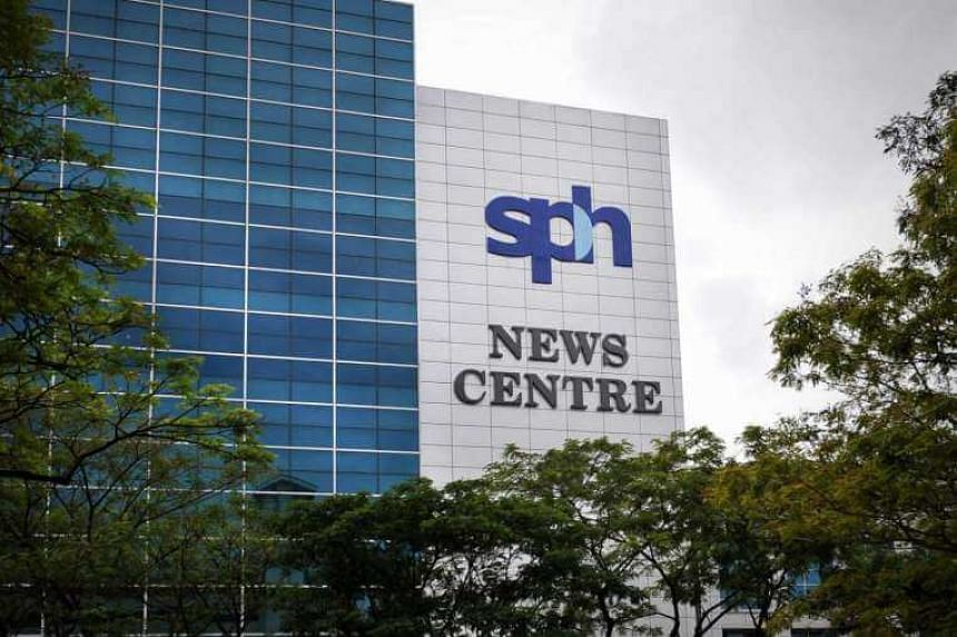 The Singapore Press Holdings' (SPH) corporate logo is displayed atop at the company's SPH News Centre building at 1000, Toa Payoh North.