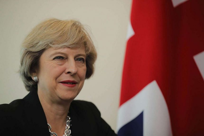 Prime Minister Theresa May at a bilateral meeting at the United Nations Building in New York City on Sept 19, 2016.