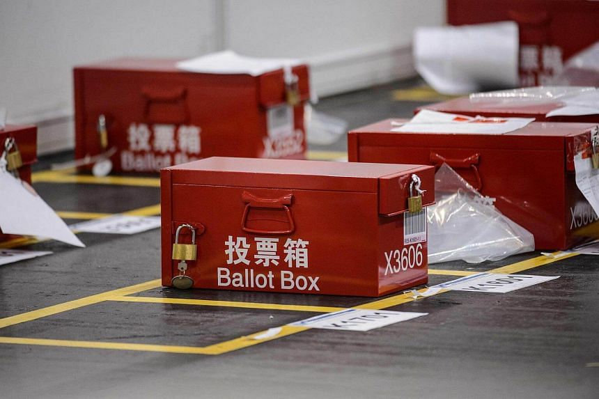 Ballot boxes for the Legislative Council election are seen at the central counting station in Hong Kong on Sept 5. Hong Kong's latest election results suggest that her elites still do not quite get it.