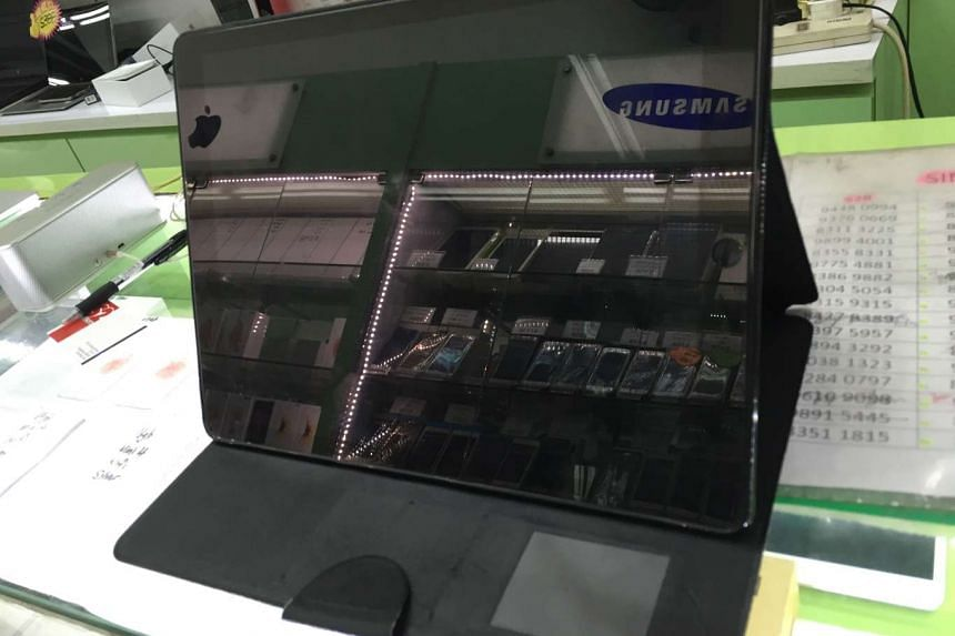 Thieves stole an iPad Pro from a shop in Geylang, but tried to sell it at a store several metres away.