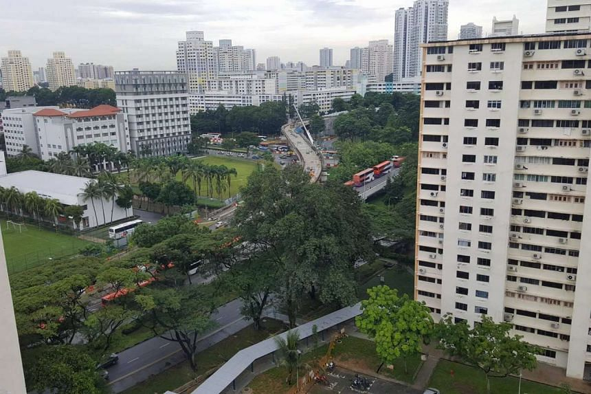 The accident, which occurred near the junction of Toa Payoh Lorong 6, clogged up traffic along Braddell Road.