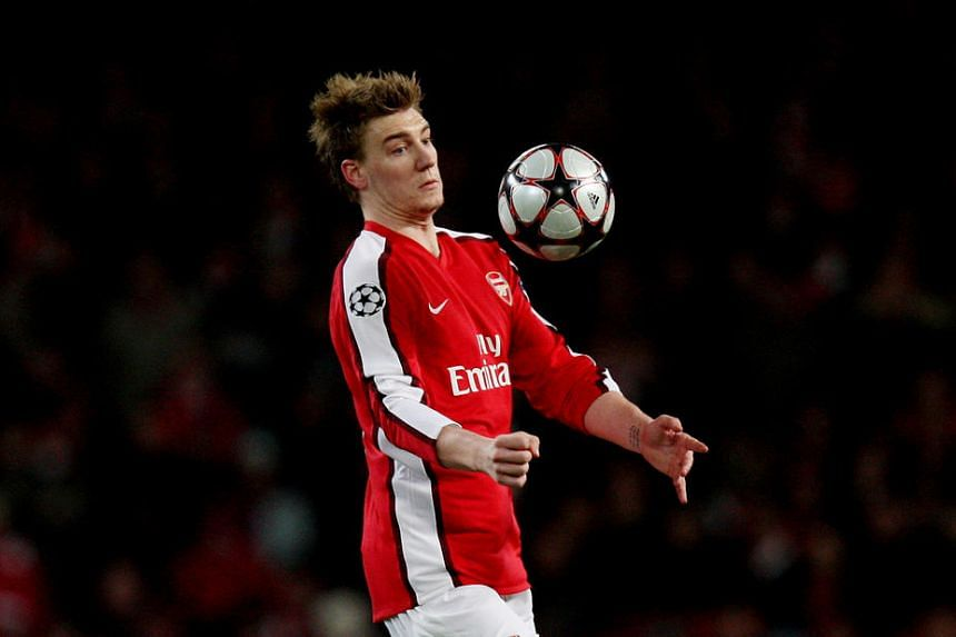 Nicklas Bendtner in action during the UEFA Champions League in 2010.