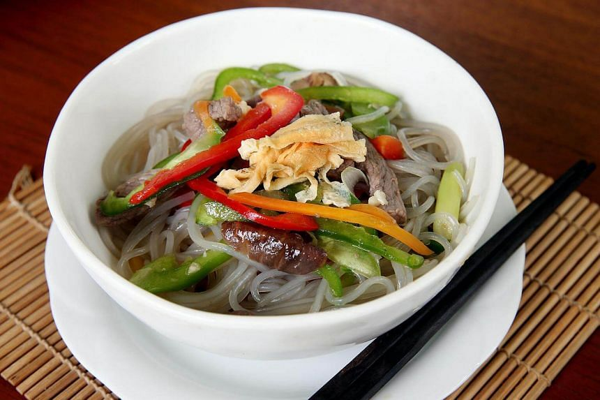 Korean noodles, also known as jap chae.