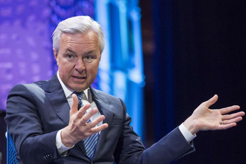 John Stumpf, chairman and chief executive officer of Wells Fargo & Co., speaks during the 2015 Fortune Global Forum in San Francisco, California.