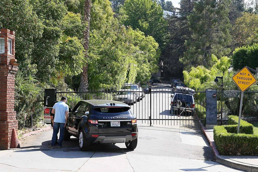 A view of Pitt and Jolie's house in Los Feliz, California, on Sept 20, 2016.