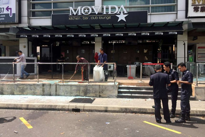 The Movida restaurant in Puchong, in the aftermath of the grenade attack on June 28.