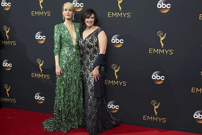 Actress Sarah Paulson (left, with prosecutor Marcia Clark) won an Emmy for her role as Clark in the FX show, The People V. O.J. Simpson: American Crime Story.