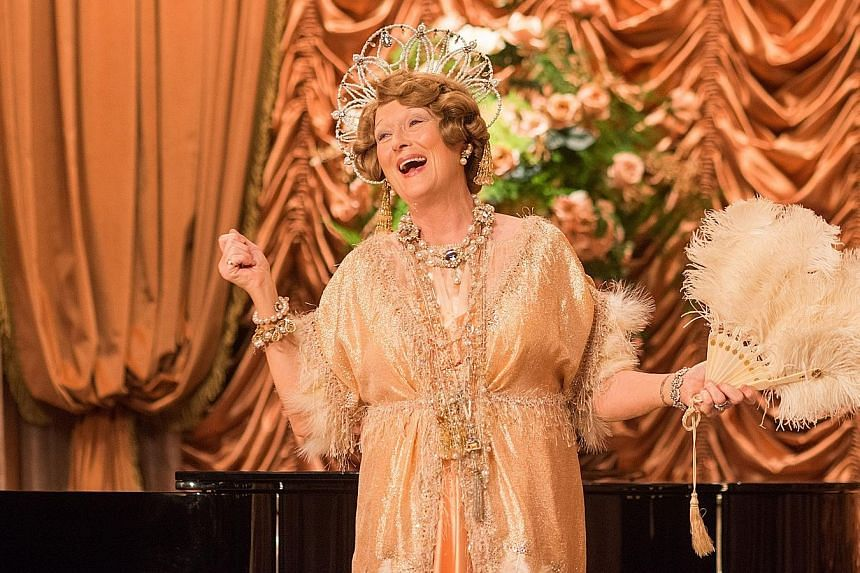 Award-winning actress Meryl Streep takes on the role as unlikely 1940s opera star Florence Foster Jenkins (above).