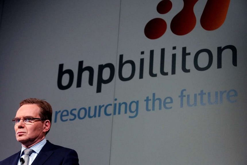 BHP Billiton chief executive Andrew Mackenzie prepares to discuss the company's annual results at a meeting in Sydney, Australia in 2013.