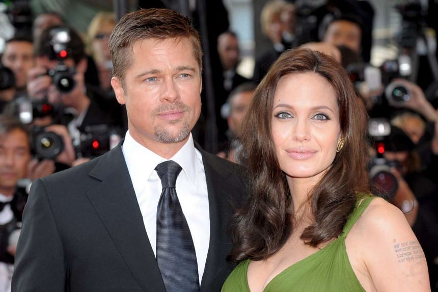 Angelina Jolie and Brad Pitt arriving for the gala screening of the film Kung Fu Panda in Cannes, France, in 2008.