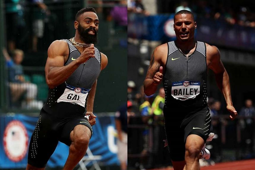 US sprinters Tyson Gay (left) and Ryan Bailey are hoping to switch to the US bobsleigh team.