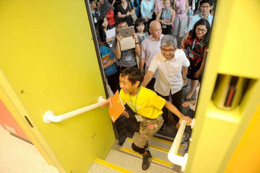 Ahmad Jasmani, 12, boarding the brand new Molly with Associate Professor Dr Yaacob Ibrahim.