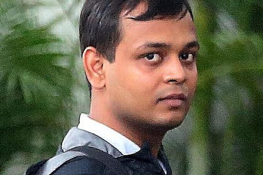 Yoga instructor Rakesh Kumar Prasad is accused of molesting a female student during a solo class at Real Yoga in Tampines last year. His actions were caught on CCTV camera and played in court.
