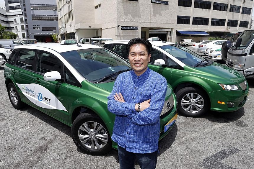 Mr Ng said commuters can expect a quieter ride in HDT Singapore's electric taxis. The first 10 e-cabs are expected to start plying the roads next month, and the fleet will rise to 100 next year.