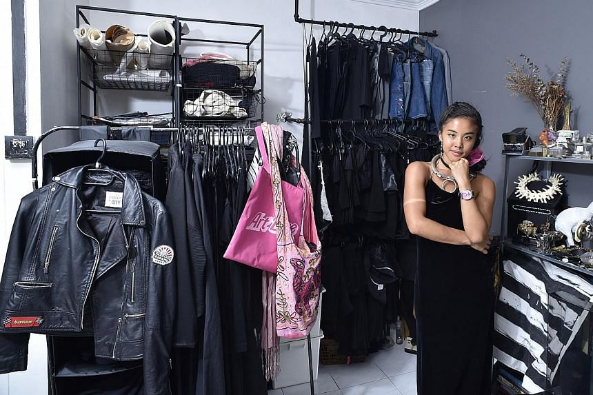 Ms Tiffany Tan shops at thrift stores for quirky and eccentric finds.