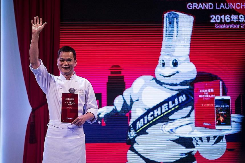 T'ang Court's chef Justin Tan, whose six-table Cantonese restaurant at The Langham hotel has been given three Michelin stars.
