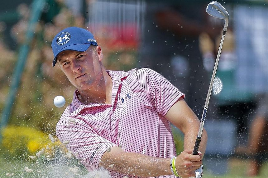 Jordan Spieth blasting out of a bunker during practice for the Tour Championship at East Lake Golf Club in Atlanta, Georgia. It is a big fortnight for the world No. 4, who is aiming to retain his crown and grab the US$10 million FedExCup bonus before