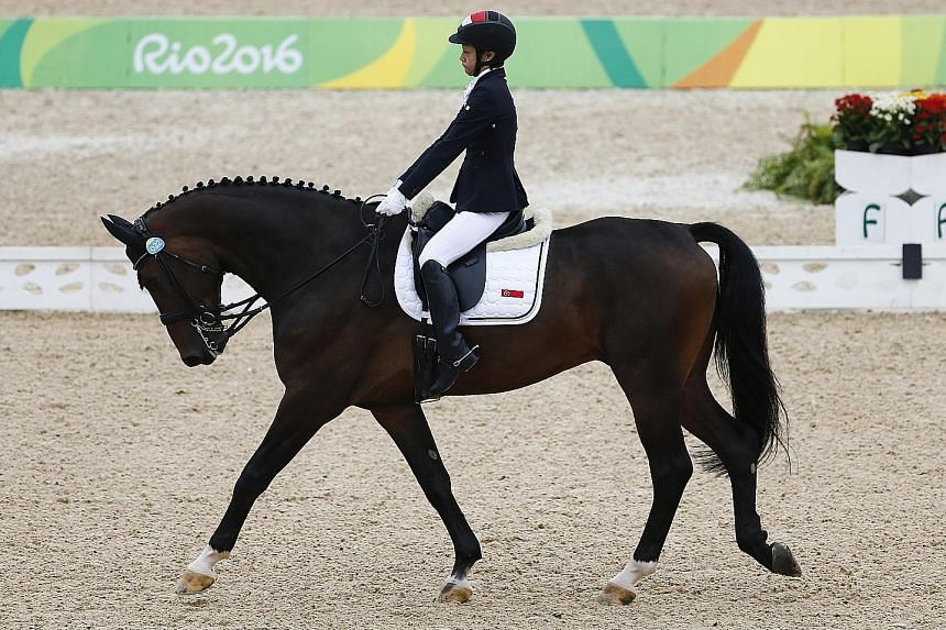 Laurentia Tan had to compete in the equestrian individual freestyle test while enduring pain, but soldiered on in what was her third Paralympic outing.
