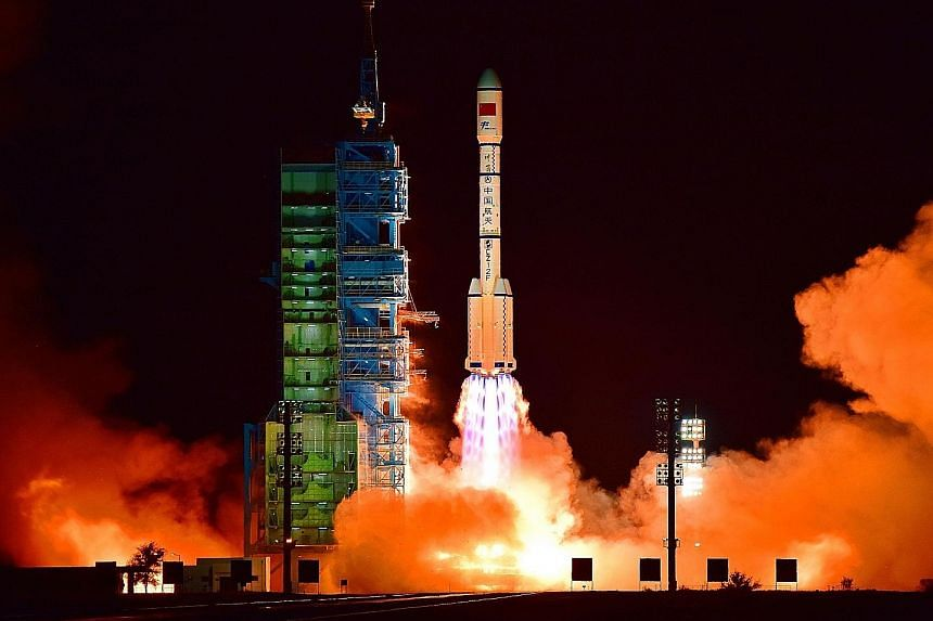China's Tiangong 2 space lab being launched last Thursday, a day after Chinese officials appeared to admit at a news conference that it had lost control of its predecessor Tiangong 1.