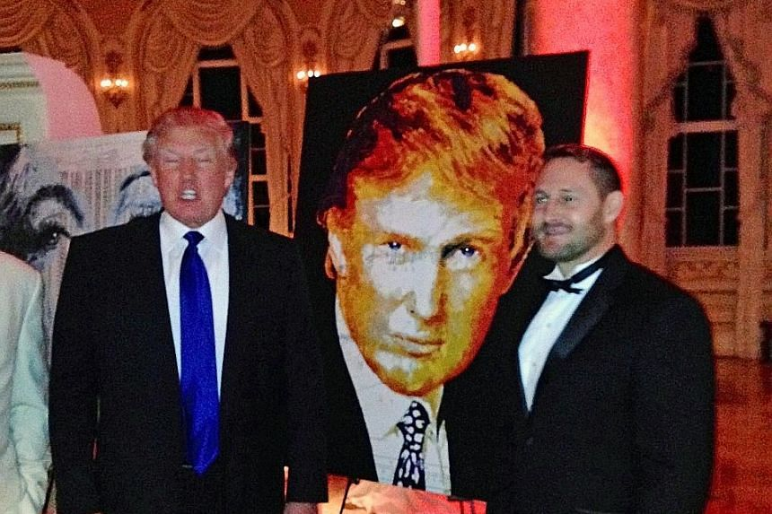 Mr Trump (left) had in 2014 used US$10,000 of his charity foundation's money to pay for a portrait of himself by artist Havi Schanz (right) at a charity fund-raiser. This is one of four cases highlighted in a Washington Post report in which he may ha