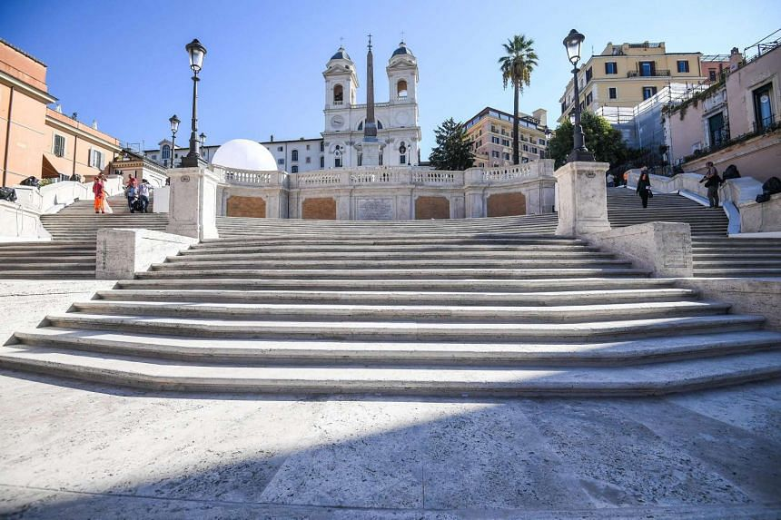 A view of the Spanish Steps in Rome, Italy, on Sept 22, 2016.