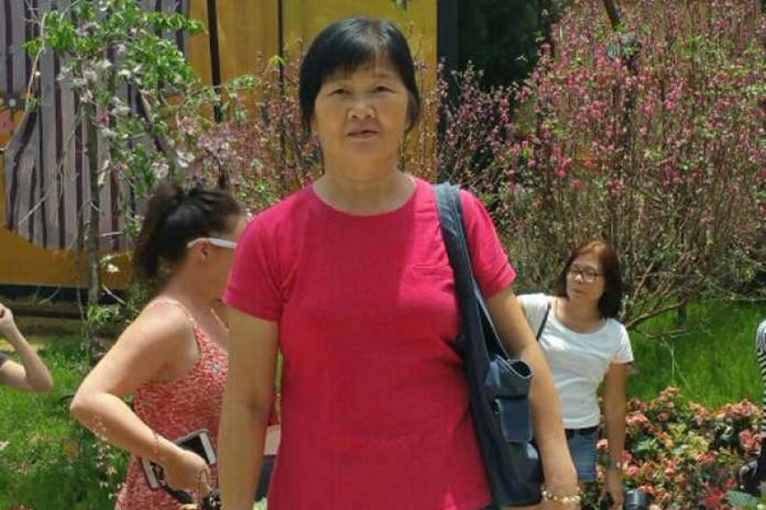 Madam Ang Liu Kiow, 53, who was involved in an accident with an e-scooter rider on Sept 17. 2016.
