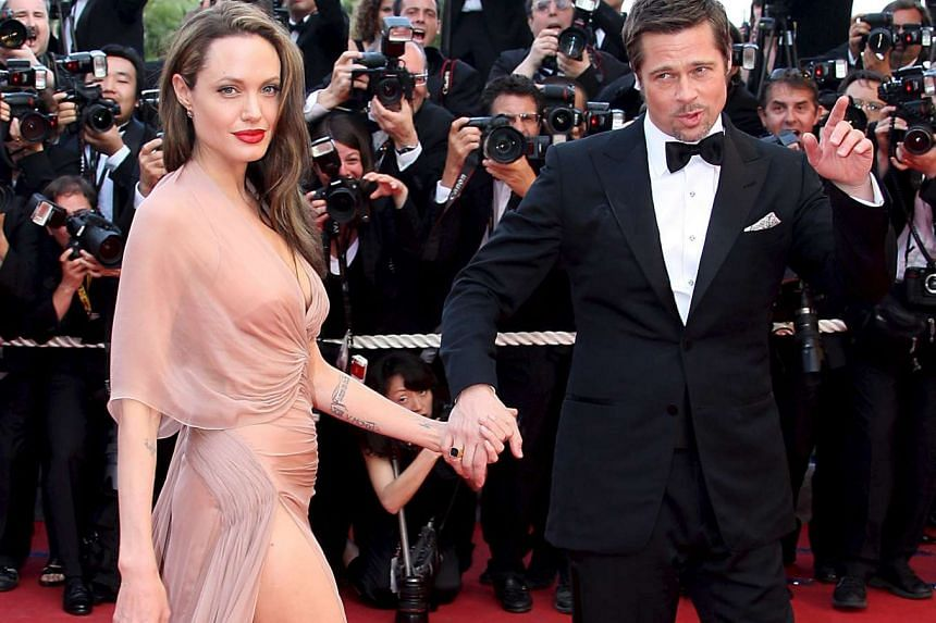 Angelina Jolie and Brad Pitt (above) at the Cannes Film Festival in 2009.