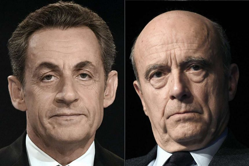 Mr Sarkozy (left) is a divisive figure in French politics. Mr Juppe (right) styles himself as a unifying force.