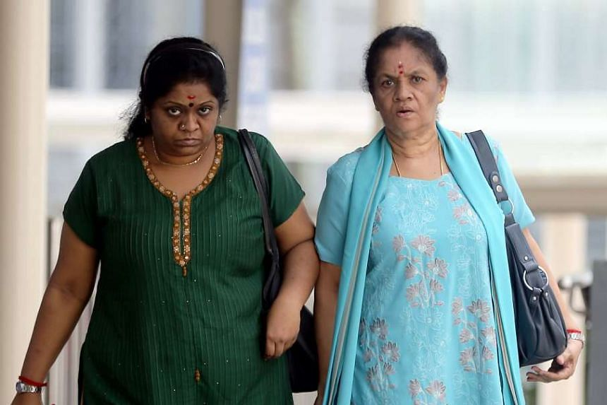 Jayasheela Jayaraman (left) and her mother, Anpalaki Muniandy Marimuthu were sentenced 12 months and 16 months' jail respectively for hurting the former's maid.