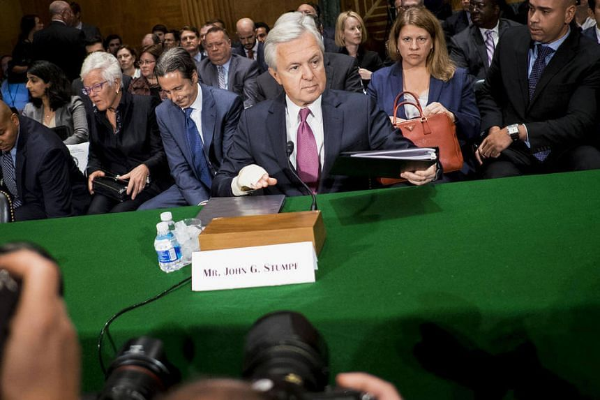 Wells Fargo CEO John Stumpf arrives to testify before the Senate Committee on Banking, Housing, and Urban Affairs in Washington.