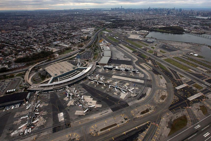 An aerial view of LaGuardia airport in New York.