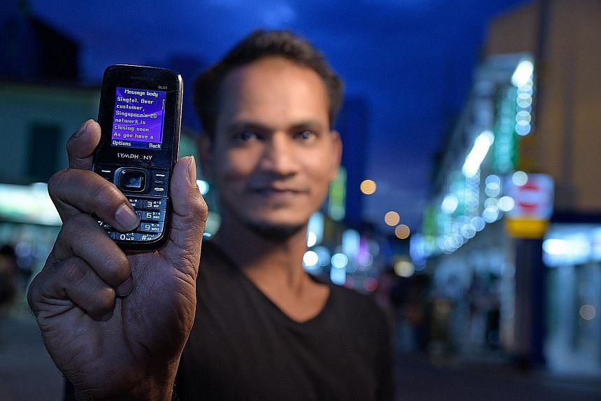 Mr Rajib, a shipyard worker who had a workplace injury last month and relies on TWC2 for help with meals, uses his 2G phone to keep in touch with his mother in Bangladesh. But these phones are slated to become obsolete here next April, when local tel