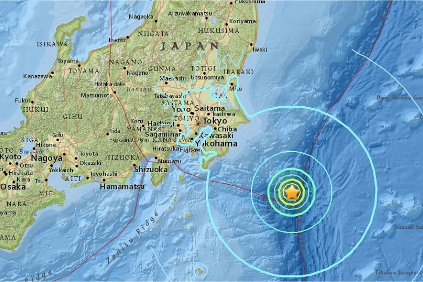 A strong earthquake with a preliminary magnitude of 6.4 struck south-east of Tokyo on Friday morning (Sept 23).
