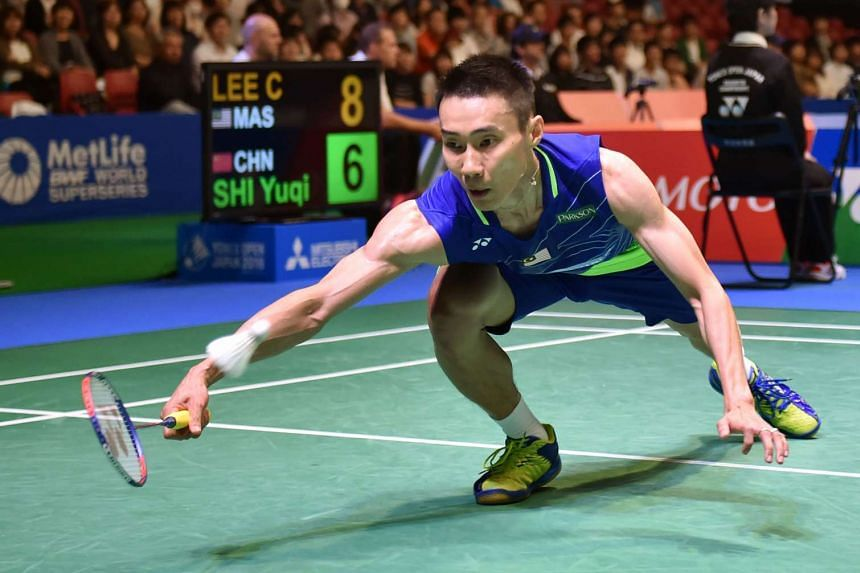 Lee Chong Wei of Malaysia during his men's singles quarter-final match at the Japan Open badminton tournament in Tokyo on Sept 23, 2016.