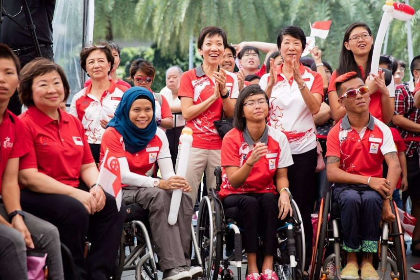 "In a Facebook post, Minister for Community, Culture and Youth Grace Fu invited the 13-strong team of Paralympians to Parliament ""to pay tribute to them for their extraordinary achievements""."