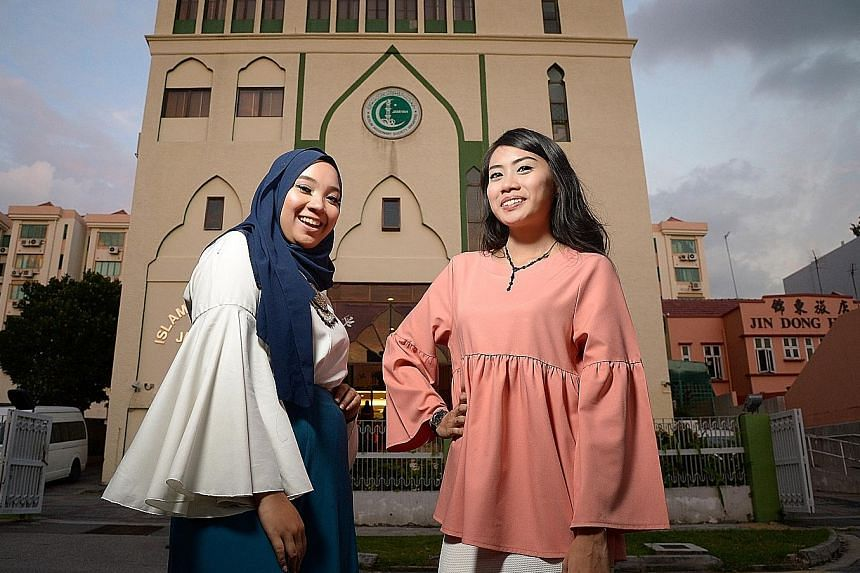 Students Nurul Farahin Ramli (left) and Nur Alisya Rosli hope to show viewers through their winning video, Should I Have Said Something, that conflicts can be managed in a mature manner by talking things out.