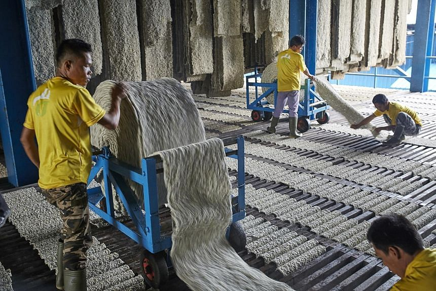 A Halcyon factory in Palembang, Indonesia. The rubber processor is offering 0.9333 Halcyon Agri shares for each share of GMG Global, a natural rubber producer.