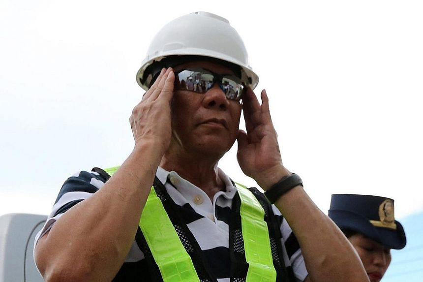 President Duterte attending an event at a coal thermal plant in Villanueva, Misamis Oriental, on Thursday. The President has had harsh words for the United States, the United Nations and the European Union, but appears determined to mend fences with