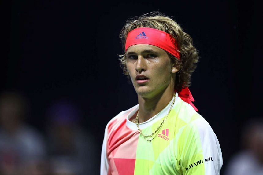 Alexander Zverev of Germany in action during the US Open in New York City on Sept 1, 2016.