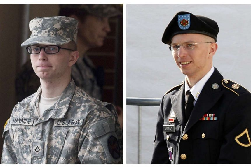 Chelsea Manning, who was born male Bradley Manning but identifies as a woman, is pictured in 2011 (left) and 2012.