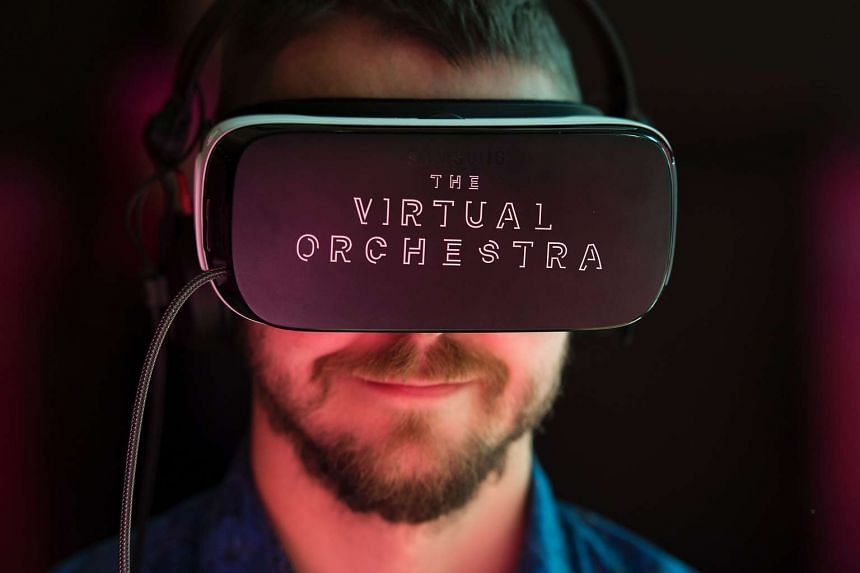 Visitors wear virtual-reality headsets at the Southbank Centre in London on Sept 23, 2016.