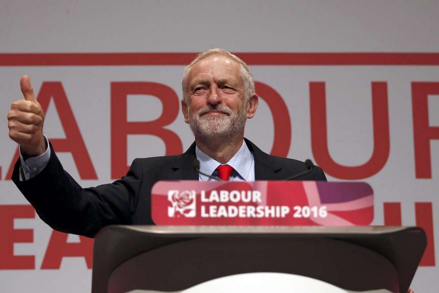 Jeremy Corbyn was re-elected leader of Britain's opposition Labour Party on Saturday (Sept 24).