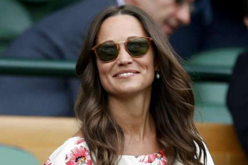 Pippa Middleton watching a match on the eighth day of the 2016 Wimbledon Championships on July 4, 2016.