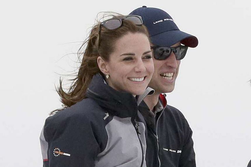 Britain's Kate, Duchess of Cambridge, and Prince William in Portsmouth, Britain, on July 24, 2016.