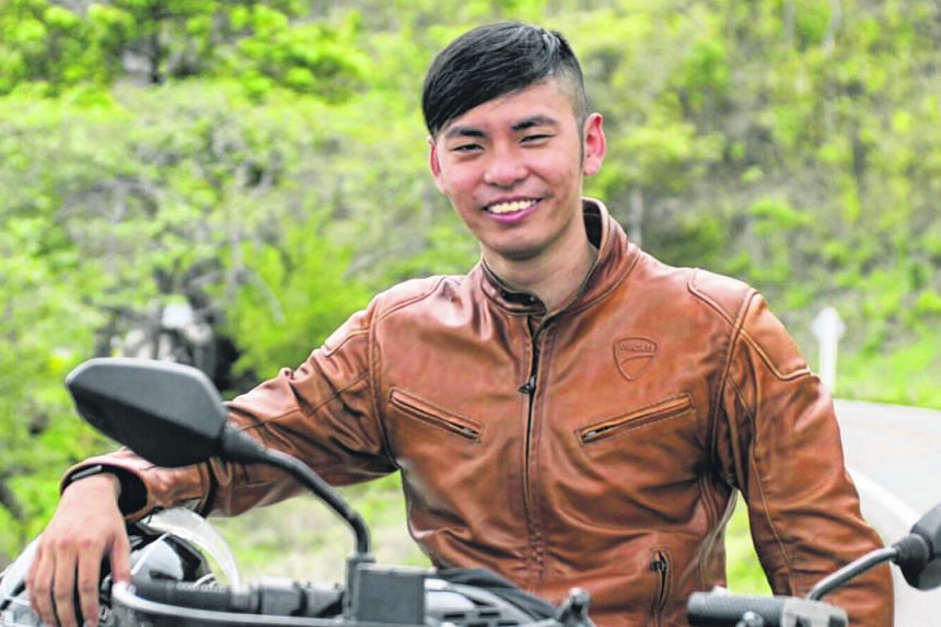 Mr Wong was a skilled rider and always put safety first, according to his friend and riding buddy. Mr Wong's motorcycle on fire yesterday on the North-South Expressway in Malaysia. It is believed that he was changing lanes and checking his blind spot