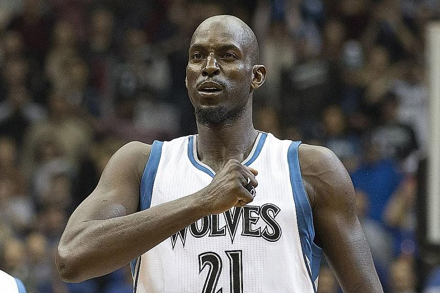 Kevin Garnett before a game against the Washington Wizards at Target Centre shortly after his return to Minnesota in February last year. He won one NBA title - with the Boston Celtics in 2008.