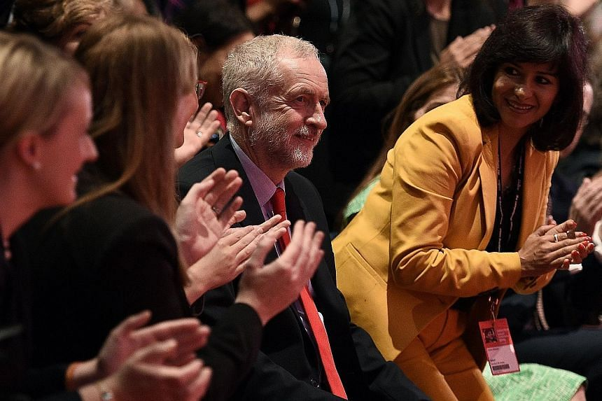 Mr Corbyn was re-elected with 61.8 per cent of the vote among Labour Party members and supporters, but his opponents within the party complain that his views will never win power.