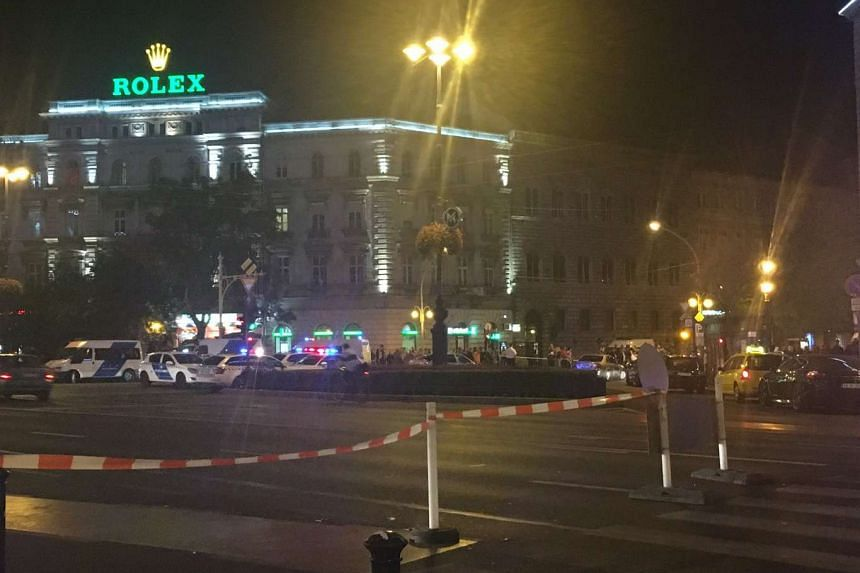An unidentified type of explosion rocked central Budapest late on Saturday (Sept 24), causing injuries to two police officers nearby, police said in a statement on Sunday.